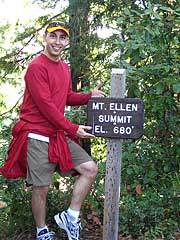 My sexy modeling of the Mt. Ellen Trail summit in Memorial Park.  Watch out Tyra!