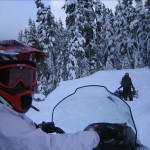 Jennifer snowmobiling in Vancouver