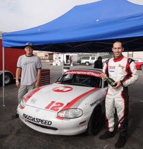 The winning #12 1999 Mazda Miata