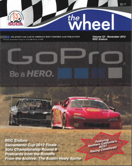 SFR SCCA The Wheel cover for November 2012